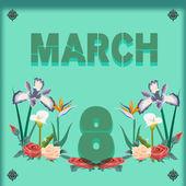 8 mart — Stok Vektör