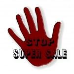 Stop super sale — Stock Vector
