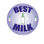 Best milk — Stock Vector
