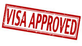 Visa approved — Stock Vector