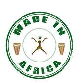 Gemaakt in afrika — Stockvector