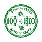 Bio stamp — Stock Vector