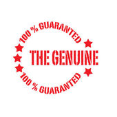 The genuine — Stock Vector