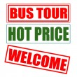 Vettoriale Stock : Bus tour
