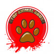 Animal abuse — Stock Vector #40774919