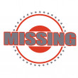Stock Vector: Missing