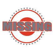 Missing — Wektor stockowy