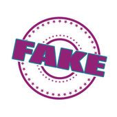 Fake — Stock Vector