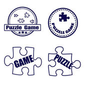 Spel van het raadsel — Stockvector
