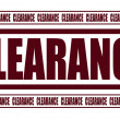 Stock Vector: Clearance
