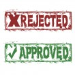 Rejected approved — Stock Vector