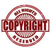 Derechos de autor — Vector de stock
