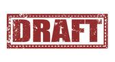 Draft — Stock Vector