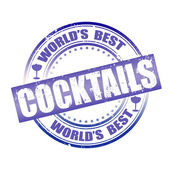 World's best cocktails — Stockvector