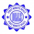 Vector de stock : First minute deals stamp