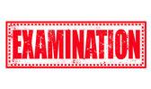Examination stamp — Stock Vector