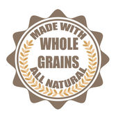 Made with whole grains stamp — Vettoriale Stock