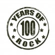100 years of rock stamp — Stock Vector