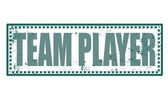 Team player stamp — Stock Vector