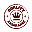 Stock Vector: Quality assurance stamp