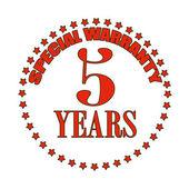 Special warranty stamp — 图库矢量图片