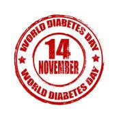 Welt-diabetes-tag-stempel — Stockvektor