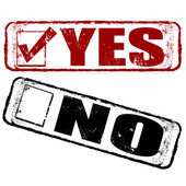 Yes no stamp — Stock Vector