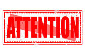 Attention stamp — Stock Vector