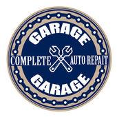 Garage stamp  — Stock Vector