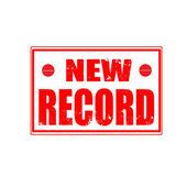 Nya rekord stämpel — Stockvektor