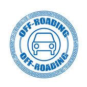Off-roading stamp — Stockvektor