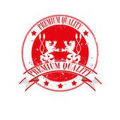 Premium quality stamp — Stock Vector