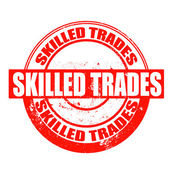 Skilled trades stamp  — Stock Vector