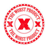 The worst product stamp — Stock Vector