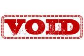 Void stamp — Stock Vector