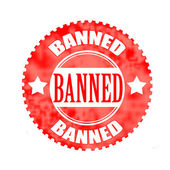 Banned stamp  — Stock Vector