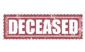 Deceased stamp — Stock Vector