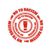 No to racism stamp — Stock Vector