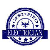 Certified electrician stamp — Stock Vector