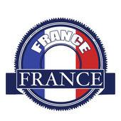 франция флаг штамп — Cтоковый вектор