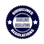 Guidelines regulations stamp — Stock Vector