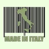 Codbare hecho en sello de italia — Vector de stock