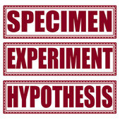 Specimen experiment hypothesis stamp — Stock Vector