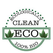 Ecologically clean stamp — Stock Vector