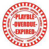Playble overdue expired stamp — Stock Vector