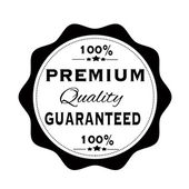 Premium quality guaranteed stamp — Stock Vector