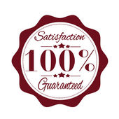 Satisfaction guaranteed stamp — Stock Vector