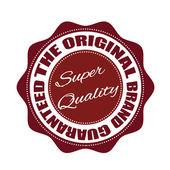 The original brand guaranteed stamp — Stock Vector