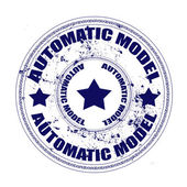 Automatic model stamp — Stockvektor