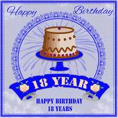 Happy birthday backgroun — Stock Vector
